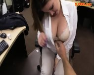 Horny Busty Woman Fucked In The Backroom For A Plane Ticket - scene 4