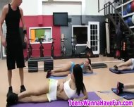 Real Amateur Teens In Gym - scene 3
