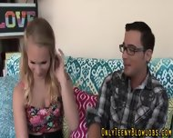 Blonde Blow Teen Swallows - scene 4