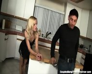 Horny Couple Seduces The Sweet Babysitter! - scene 1