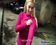 Eurobabe Ellen Flashes Tits And Banged In Car Garage - scene 4