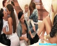 European Glam Girls Lez Party In Bathtub - scene 8