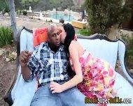 Slut Gags On Black Cock - scene 3
