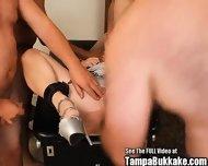 Chained Slut Bukkake Bondage Anal Blast - scene 4