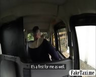 Pretty Amateur Blonde Customer Railed In The Backseat - scene 4