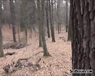 Busty Lilia Rafael Fucked In The Woods In Exchange For Cash - scene 3
