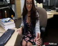 College Girl In Glasses Pussy Banged To Earn Extra Money - scene 3