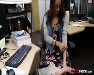 College Girl In Glasses Pussy Banged To Earn Extra Money - scene 4