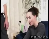 Young Perv Gets Lucky With A Beautiful Brunette Housewife - scene 5