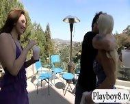 Badass Babes With Single Men Having Fun In Playboy Mansion - scene 1