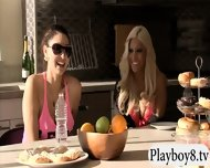 Badass Babes With Single Men Having Fun In Playboy Mansion - scene 12