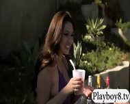 Badass Babes With Single Men Having Fun In Playboy Mansion - scene 2