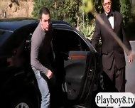 Badass Babes With Single Men Having Fun In Playboy Mansion - scene 3
