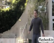 Badass Babes With Single Men Having Fun In Playboy Mansion - scene 4
