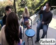 Badass Babes With Single Men Having Fun In Playboy Mansion - scene 5