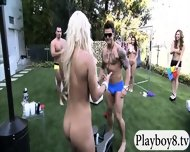 Badass Babes With Single Men Having Fun In Playboy Mansion - scene 6