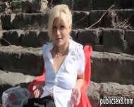 Amateur Blonde Czech Girl Fucked And Facialed For Money - scene 4