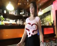 Huge Boobs Waitress Screwed Up In Her Workplace For Money - scene 1