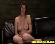 Strapon Slave Dominated In Threesome - scene 12