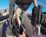 Guzzling Cock Kyra Hot Got Banged In Public Train - scene 1