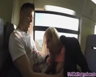 Guzzling Cock Kyra Hot Got Banged In Public Train - scene 6