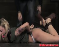 Bdsm Submissive Gagged And Hogtied - scene 5