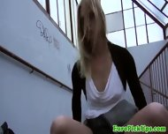 Pulled Blonde Babe With Glasses Riding - scene 4