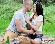 Teen Girlfriend Strips Down In The Park For Her Boyfriend - scene 1