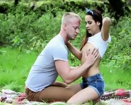 Teen Girlfriend Strips Down In The Park For Her Boyfriend - scene 8