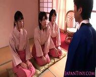 Petite Femdom Japanese Babes Jump On Dude - scene 4