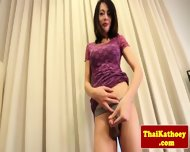 Thai Tgirl With Braces Gives Solo Show - scene 4