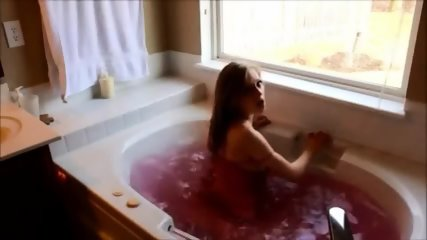 Amazing Brunette Slut Making Love In A Jacuzzi - scene 5