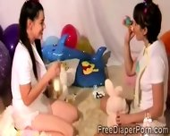 Beautiful Teen And Perverted Boyfriend Play In Diapers - scene 12