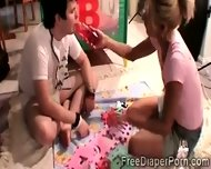 Beautiful Teen And Perverted Boyfriend Play In Diapers - scene 3