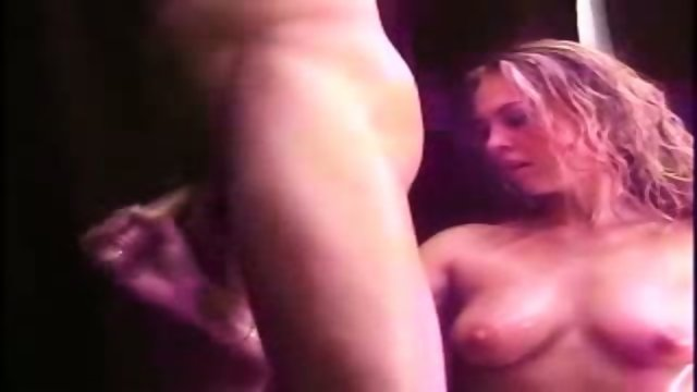 Nice Blonde gives Handjob and sucks
