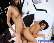 Hot Shemale Alisa C And Ladyboy Seang Ass Fucking In Bed - scene 10