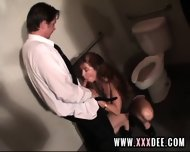 Aged Redhead Drilled On Toilette - scene 3