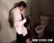 Aged Redhead Drilled On Toilette - scene 5