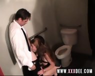 Aged Redhead Drilled On Toilette - scene 7