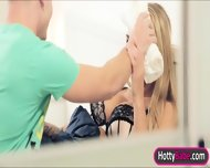 Stepmom Kayla Green Threesome With Teen Couple On The Bed - scene 2