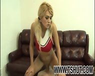 Blonde Tranny Got Licked Ass - scene 3