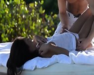 Exotic Coed Making Love In The Gardens - scene 3