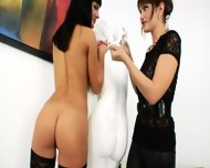 Lesbian Anal Women Using Brutal Dildos - scene 1
