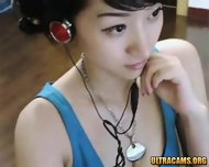 Hot Asian Babe Strips And Plays On Webcam - scene 10