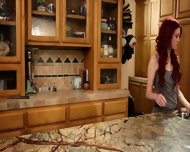 Luxury Masturbation In The Kitchen - scene 3