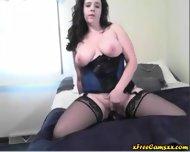 Busty Burnette Milf On Webcam - scene 12