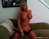 Hot Blonde Babe Toys On Webcam - scene 9
