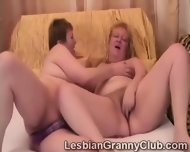 Blonde Granny Loves Her Curious Redhead Girlfriend - scene 9