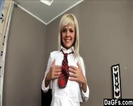 Schoolgirl In Uniform Excited To Play With Her Nice Body - scene 4