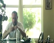 Redhead Juggy Uses Her Stepfather Porn To Blackmail Him - scene 6